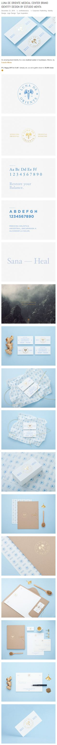 Luna de Oriente Medical Center Brand Identity Design by Estudio Menta - - Logo Design, Brand Identity Design, Branding Design, Graphic Design, Branding Ideas, Logo Branding, Logos, What Is Fashion Designing, Stress And Depression