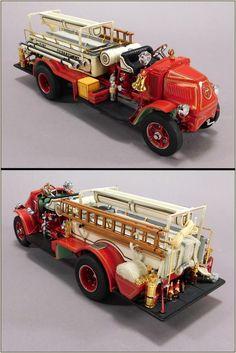 Danbury Mint Diecast 1926 AC Mack Rotary Pumper 1:32 Die Cast Fire Truck #DanburyMint #ACMack