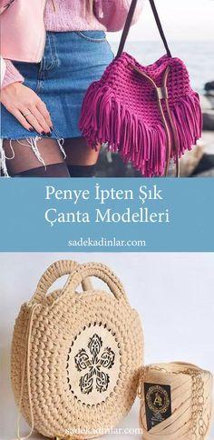 Penye ip çanta modelleri son zamanlarda çok popüler hale geldi.Örgü çanta modelleri ile tarzınıza uygun çantayı beğenip kendinizde yapabilirsiniz. #orgucanta #canta #orgucantamodelleri #penyeip #penyeipcanta #örgücanta ##hobi #knitting #bayancanta #kolcantasi #omuzcantasi #sirtcantasi #elcantasi #cantaorgu #orgumodelleri #örgü Leather Jewelry, Leather Bag, Crochet Basics, Straw Bag, Notebook, Sewing, Knitting, Pattern, Handmade