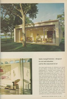 What was once beautiful still is, circa 1966 Bunshaft House exterior.