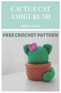 Crochet Cat Pattern, Crochet Amigurumi Free Patterns, Crochet Animal Patterns, Crochet Dolls, Crochet Yarn, Crotchet, Kawaii Crochet, Cute Crochet, Yarn Projects