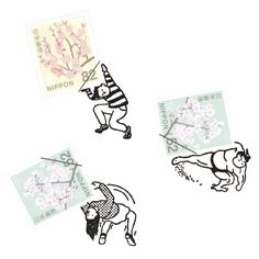 a small world around stamps | 切手の小人