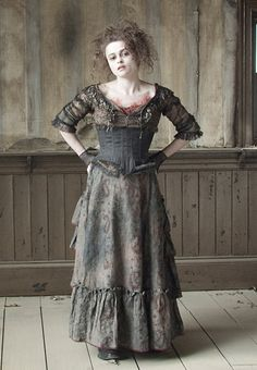 Sweeny Todd.  I totally agree that this dress which Helena Bonham Carter is wearing would make a brilliant Vampire costume.