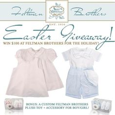 Feltman Brothers Easter Giveaway-Enter to win a $100+ Clothing Bundle 4/7 US only please