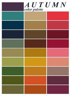 Autumn color palette - for the capsule wardrobe - she shows everything! Autumn color palette - for the capsule wardrobe - she shows everything! Color Me Beautiful, Colour Schemes, Color Combos, Best Color Combinations, Minimalist Beauty, Minimalist Fashion, Fall Color Palette, Colour Palettes, Warm Autumn