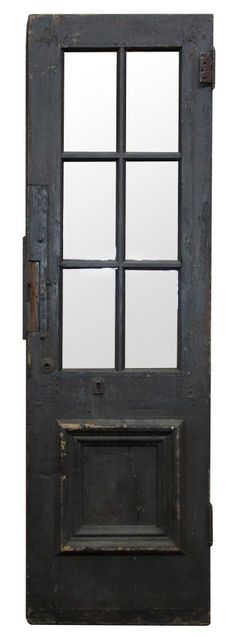 leather like studded swinging door: architectural salvage online