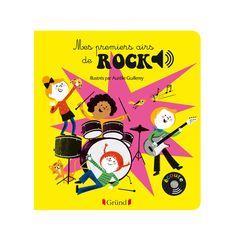 """C'est au travers de grands tubes de musique rock, réarrangés de façon """"musique classique"""", que les petits écouteront et découvriront leurs premières chansons d'Elvis Presley, les Beach Boys, les Rolling Stones, Bruce Springsteen, The Clash ou Nirvana ! Avec ses puces sonores musicales, ce recueil est unique. Sur chaque page, l'enfant recherche dans l'illustration le petit bouton qui déclenchera la musique."""