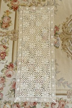 Lovely Vintage Cream Crochet Lace Runner by Jenneliserose on Etsy, $20.00