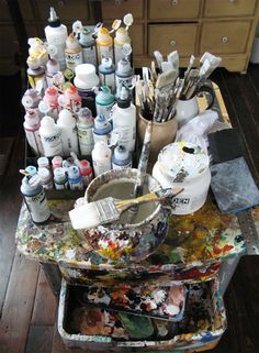 what's in your toolbox: holly farrell - Art Supplies My Art Studio, Painting Studio, Studio Ideas, Messy Art, Artist Life, Art Studios, Art Tutorials, Art Supplies, Home Art
