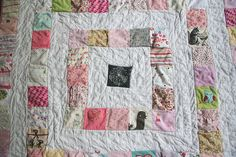 phoebe's baby clothes quilt by Hillary Lang, via Flickr