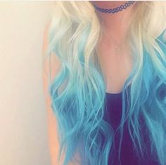 Blonde to blue ombré bayalage