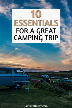 List of important family camping essentials not to forget on your first camping trip with kids. Includes useful camping gear for an easy vacation with kids. Camping With Kids, Family Camping, Travel With Kids, Family Travel, Family Family, Camping Glamping, Camping Hacks, Camping Meals, Outdoor Camping