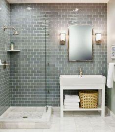 Bathroom Renovation Ideas: bathroom remodel cost, bathroom ideas for small bathrooms, small bathroom design ideas Grey Bathroom Tiles, Small Bathroom With Shower, Bathroom Renos, Modern Bathroom Design, Bathroom Interior Design, Bathroom Renovations, Master Bathroom, Bathroom Designs, Small Bathtub