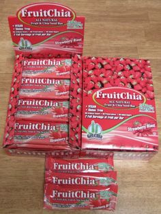 FruitChia Strawberry - All Natural / Real Fruit & Chia Seed Bar With Omega-3. Gluten-Free, Kosher & Vegan - 24 PACK. Low Glycemic All Natural Fruit & Chia Seed. Not Only Healthy, but Tasty and Vegan Too! All-new Fruit Chia Bars! Certified Gluten-Free in a Certified Gluten Free Facility in WA State! Fruit Grown & Bar Made in the USA with 1040mg Omega-3! Non-GMO Project Verified & OU Kosher. Size: 1.4oz Bar. No Preservatives Or Added Sugars. Item dimensions: weight: 9, width: 175,...