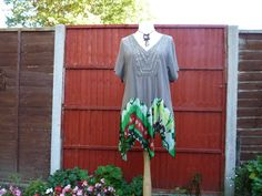 Plus upcycled top recycled boho tunic womens tank by BosaHandmade
