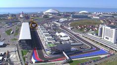 A bird's-eye view of the Sochi Autodrom, site of Formula 1's Russian Grand Prix