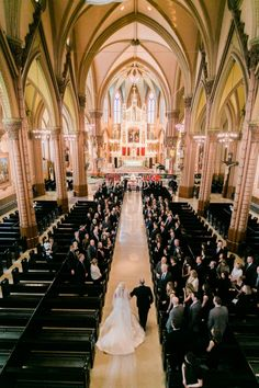 Chicago Wedding at Holy Family Church. #chicagoweddingphotography