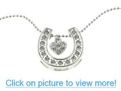Silver Lucky Horseshoe with Heart Horse Necklace for Horse Lovers Valentines Day Mothers Day Easter