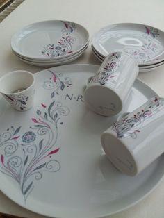 2015-07-17 08 Painting Pottery Plates, Keramik Design, China Painting, Arte Floral, Delft, Arabesque, Glass Art, Clay, Vase