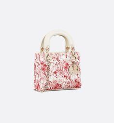 d7b2f3610bdc Mini Lady Dior Hortensia bag three quarter closed view Lady Dior