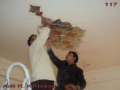تركيب قطع المرايا للسقف