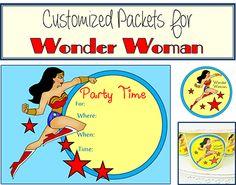 wonder woman party ideas, wonder woman printable party favors