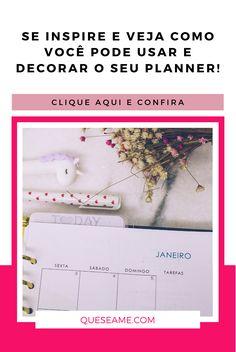 Meu Planner em Janeiro Check Up, Fotos Do Instagram, Planner, January, Day Planners