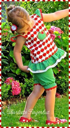lillesol & pelle Schnittmuster/ pattern: Stufenkleid (als Bluse abgewandelt)