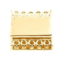 5 Strand Magnetic Snap Clasp - 14K Gold Plated