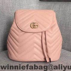 f265a273214 Gucci GG Marmont Matelassé Backpack 528129 2018