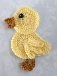 Crochet Sheep Free Pattern, Crochet Applique Patterns Free, Baby Applique, Crochet Appliques, Crochet Birds, Easter Crochet, Crochet Animals, Crochet Baby, Yarn Projects