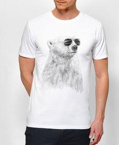 T-shirt Homme Don't Let The Sun Blanc by Balàzs Solti