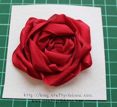Lovely tutorials on this website, #CraftyRibbons, I really like this seam binding rose