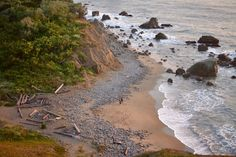 This rocky, secluded beach is tucked in along the Land's End Coastal Trail.