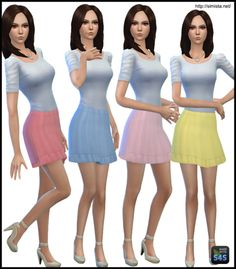 Basic Skirt Collection 01 by bec at Simista via Sims 4 Updates Check more at http://sims4updates.net/clothing/basic-skirt-collection-01-by-bec-at-simista/