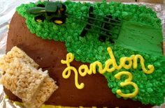 Landon's John Deere Birthday Cake