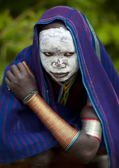 Surma girl with white face - Kibish Ethiopia by Eric Lafforgue, via Flickr