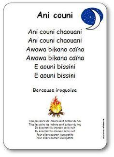 Berceuse iroquoise Ani Couni illustrée à imprimer gratuitement