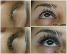 Before and after - volume extensions Combination Skin, Eyelash Extensions, Eyelashes, Skin Care, Beauty, Beautiful, Lashes, Lash Extensions, Skincare Routine