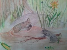 Student illustration that accompanied the poem, I think Mice are Nice.