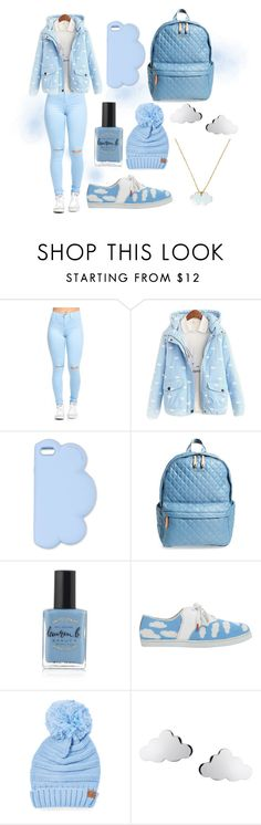 """""""Clouds"""" by laurenisabae ❤ liked on Polyvore featuring STELLA McCARTNEY, M Z Wallace, Lauren B. Beauty, Twins For Peace, Cheveux Corp., Conran, cute, Blue, sneakers and clouds"""