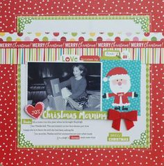 Bella Blvd Make It Merry collection. Christmas Morning layout by creative team member Becki Adams.