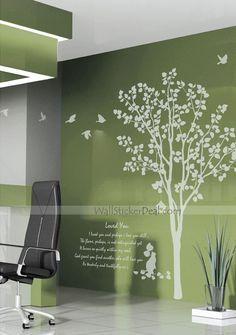 Landscape Tree With Flying Birds Wall Sticker