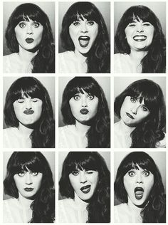Zooey Deschanel is just the cutest thing I swear! I love her quirks and just her......  ;)