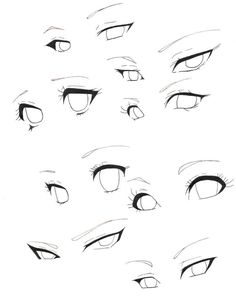 Pin by reedkam on practicing eyes in 2019 art sketches, manga eyes, art ref Body Drawing Tutorial, Eye Drawing Tutorials, Eye Tutorial, Manga Tutorial, Anatomy Tutorial, Drawing Body Poses, Drawing Eyes, Anime Face Drawing, Mouth Drawing