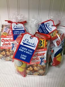 Favor bags, retro baseball party | Be Envied Entertaining Would be cute for a little boy's birthday party