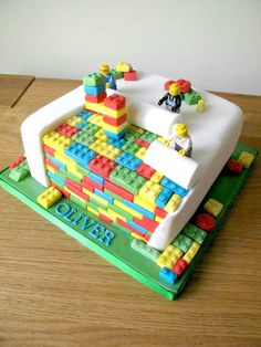 Image result for how to make a lego cake