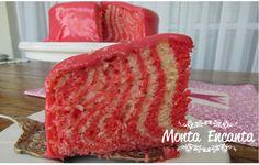 Como fazer bolo zebrado Pink, lindo, perfeito para festa de menina...