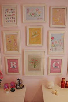 Pretty prints for a little girl's room