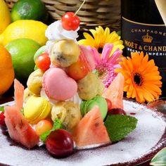 Macaron Tower, Fruit Salad, Macarons, Cheese, Food, Fruit Salads, Essen, Macaroons, Meals